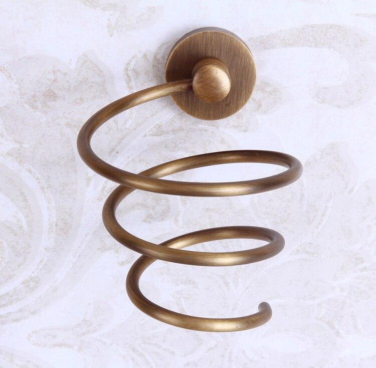 Spiral Hair Dryer Stand Holder Wall Mount Bracket Blower Blow Dryer Stand/Holder Copper