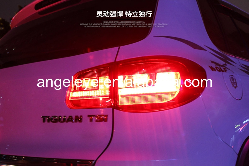 For Volkswagen Tiguan Rear lights LED Tail Lights 2009-2012 year Red White Color LF