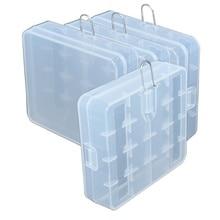 цена на 40pcs/lot New Portable Hard Plastic Battery Case Holder Storage Box Cover for 4 x 18650 Batteries