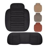 שחור PU לביש לרכב עור כרית מושב כרית מושב מכונית כרית מושב יחיד נוח זיעה מכוניות אבזרים