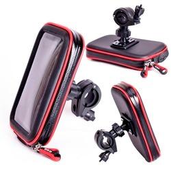 Uniwersalny wodoodporny rower telefon wspornik do uchwytu dla iphone x 8 GPS uchwyt na telefon do motocykla Suporte Para Celular uaktualnić telefon torba