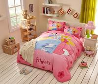 Pink Cotton Minnie Mouse comforter bedding set twin size girls quilt cover 3d full bed linen soft coverlet Kid 200x230