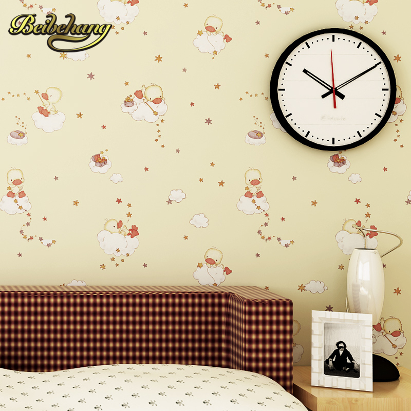 beibehang wall paper. Pune Korean girl room backdrop bedroom children's room shop for environmental non-woven wallpaper shipping beibehang 2017 new environmental
