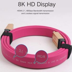 Image 3 - MOSHOU – câbles HDMI UHD HDR 48gbps, 4K @ 60HZ 8K @ 120Hz, pour Audio et vidéo, cordon HDMI 2.1