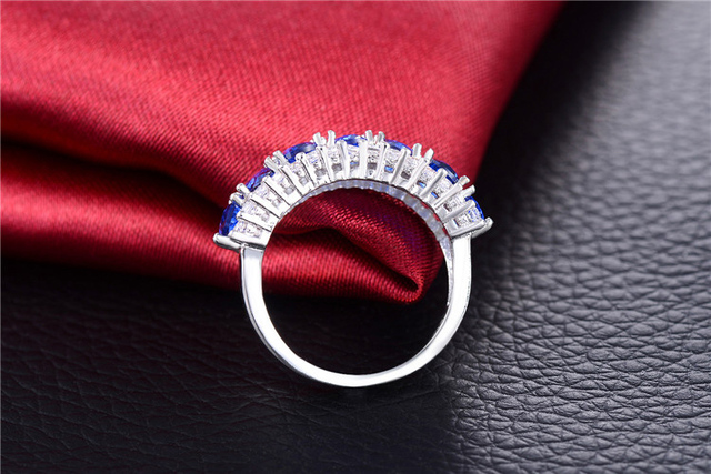 MISANANRYNE Fashion Jewelry Rings for Women Silver Color CZ Zircon Ring Engagement Bague Wedding Bijoux Accessories