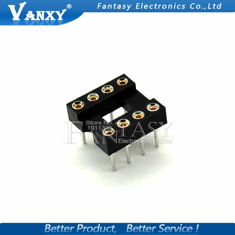 10PCS Round Hole IC socket ช่องเสียบ DIP 6 8 14 16 18 20 24 28 40 pin ซ็อกเก็ต DIP6 DIP8 DIP14 DIP16 DIP18 DIP20 DIP28 DIP40 pins