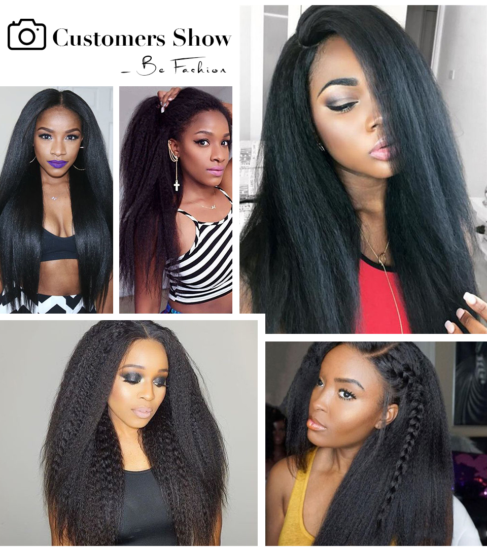 Allove yaki straight human hair lace front wigs (6)