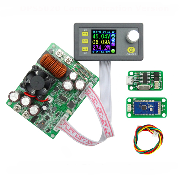 DPS5020 Atual Tensão Constante Módulo Step Down Converter Fonte de Alimentação de Comunicação Digital LCD
