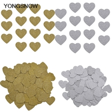 100pcs Heart Paper Confetti Wedding Baby Shower Kids Birthday Cake Topper Decor Table Decoration Scatter