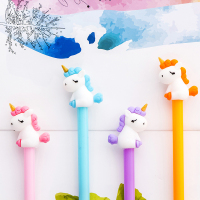 60pcs kawaii pen cute unicorn animal horse gel ink pens for school office supplies promotion gift korean stationary free shippin
