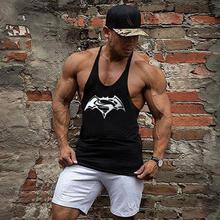 Golds Shark Fitness Tank Top Men Bodybuilding Stringers gyms Clothing Men Shirt Crossfit Vests Cotton Singlets Muscle Tops