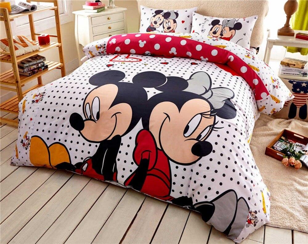 Bettwäsche Micky Maus Bettwäsche Set 200x220 Disney Minnie Und