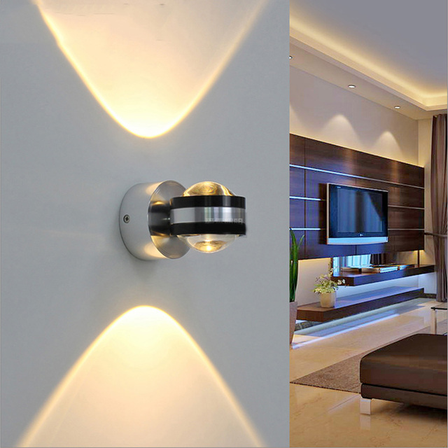 Modern Minimalist Wall Lamps 6W AC85V 265V LED Wall Sconce Light Up/Down  Living