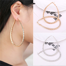 Sliver or Gold Plated Round Loop Big Large Circle Creole Hoop Earrings For Women Girls Fashion Jewelry Pendientes Aros Gift 2016