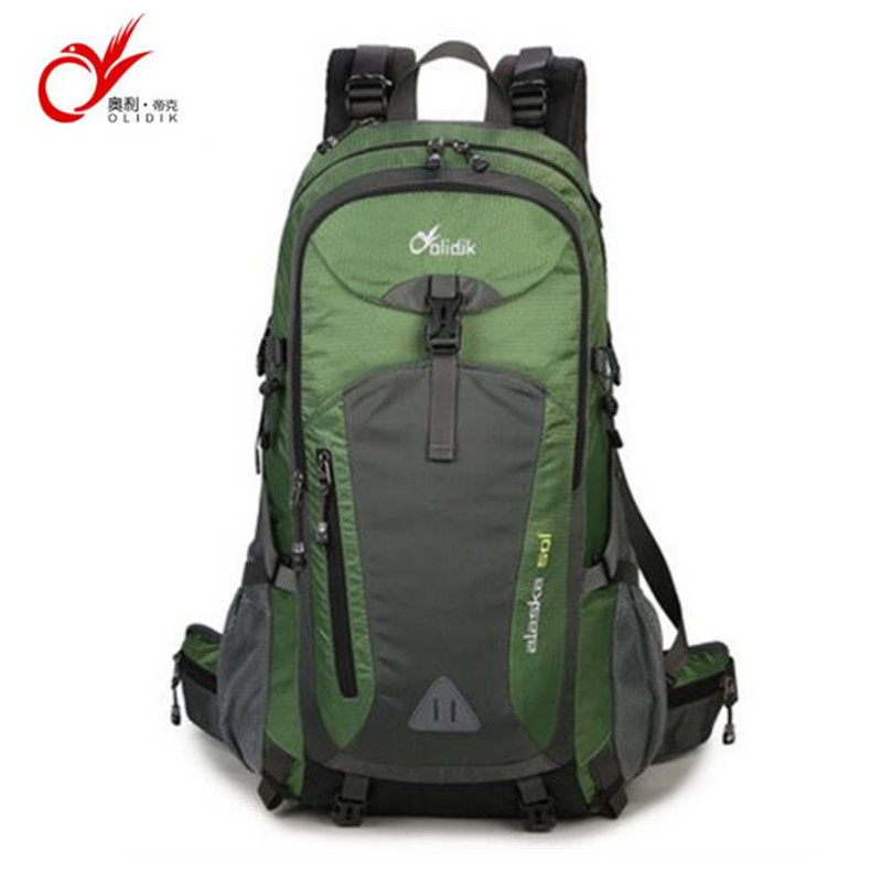 Olidik Waterproof Travel Hiking Backpack 50L Sports Bag For Women Men Outdoor Camping Climbing Bag Molle Mountaineering Rucksack
