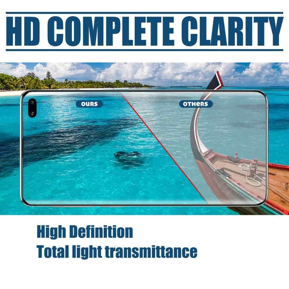 Cristal templado líquido 3D UV Nano para Samsung S9 S8 S7 edge Note 8 9 Protector de pantalla de pegamento completo Curvo para Samsung S10-5G Plus