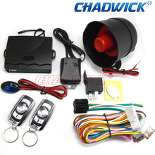 CHADWICK 1-Way Auto Car Alarm Security System Keyless Entry & TWO 4-Button Remote Universal 8133 control central door lock siren