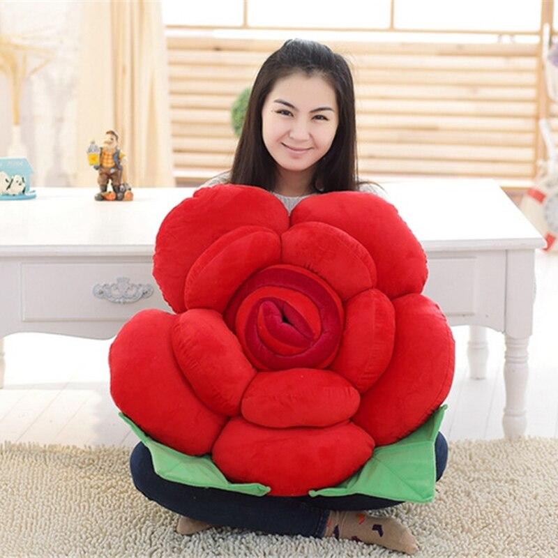 Fancytrader Big 90 cm Brinquedo Macio Recheado de Pelúcia Rosa Flor Travesseiro Almofada Do Sofá de Casa Mat Decoração de Aniversário Presentes do Dia Dos Namorados - 3