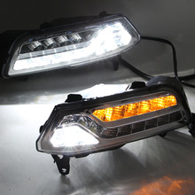 Auto parts Modification of 2015 year For Volkswagen New  Day Lights LED POLO Traffic yellow Fog