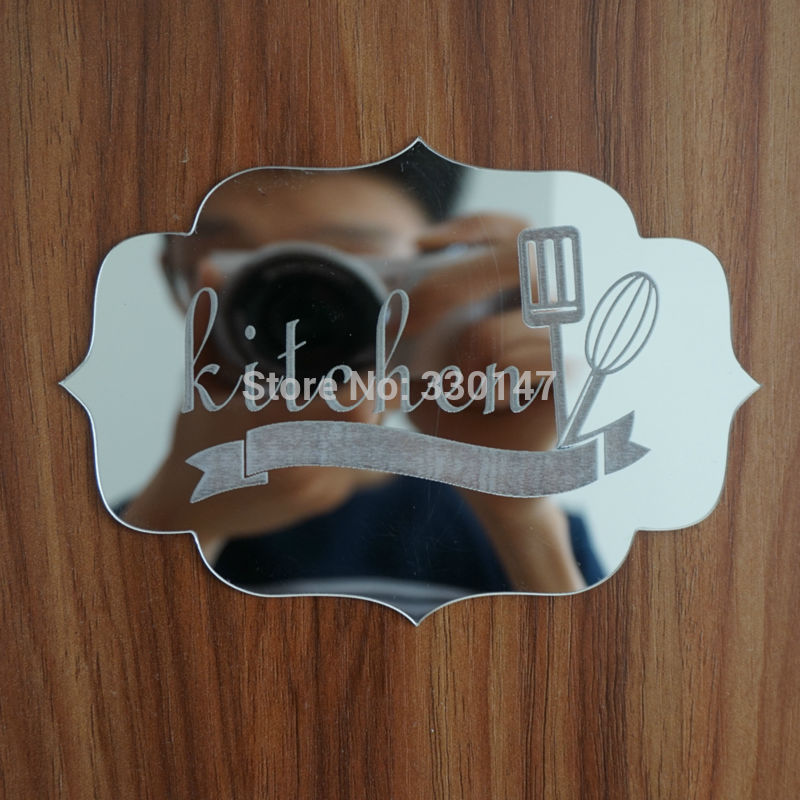Room Indicating Signs Entrance House Name Logo 3D Acrylic Mirrored Door Plate Mirror Wall Stickers Home Decor Customized Gifts