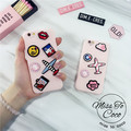 Japan and Korea creativity cartoon airplane for iphone6 6s 6plus pink Phone Case protective sleeve soft silicone shell tide