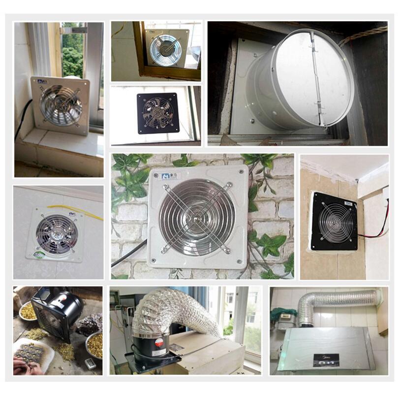 Exhaust Fans Bathroom Window Ventilation Bathroom 8 Inches Kitchen Fume Ventilation Fan Exhaust Fans Aliexpress