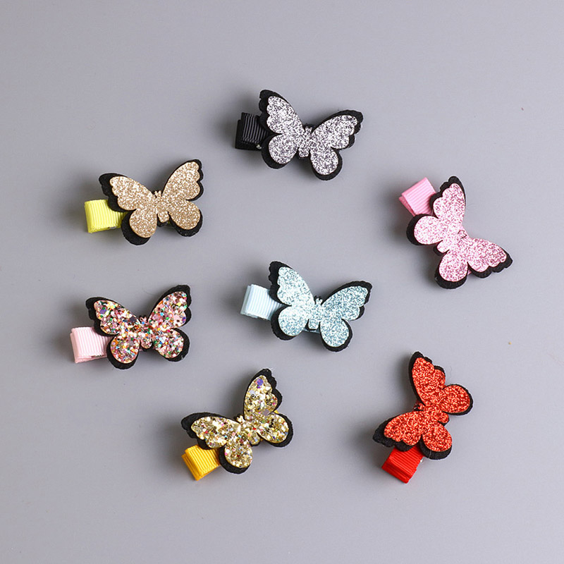 2018 New Fashion Hairpin Girl Hair Clip Butterfly Barrette Children Gift Kid Bow Summer Style Jewelry Color Hair Accessories lysumduoe headband black hairpin women clip s shape barrette girl hairgrip hairgrips children hairpins jewelry hair accessories