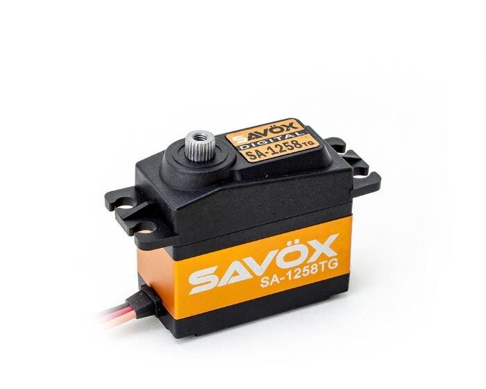 SAVOX SC-1258TG Haute Torque Titane Vitesse Servo 1258 0.08 S/12 KG pour 1/10 1/8 Buggy Monster truck Sur Chenilles Truggy échelle