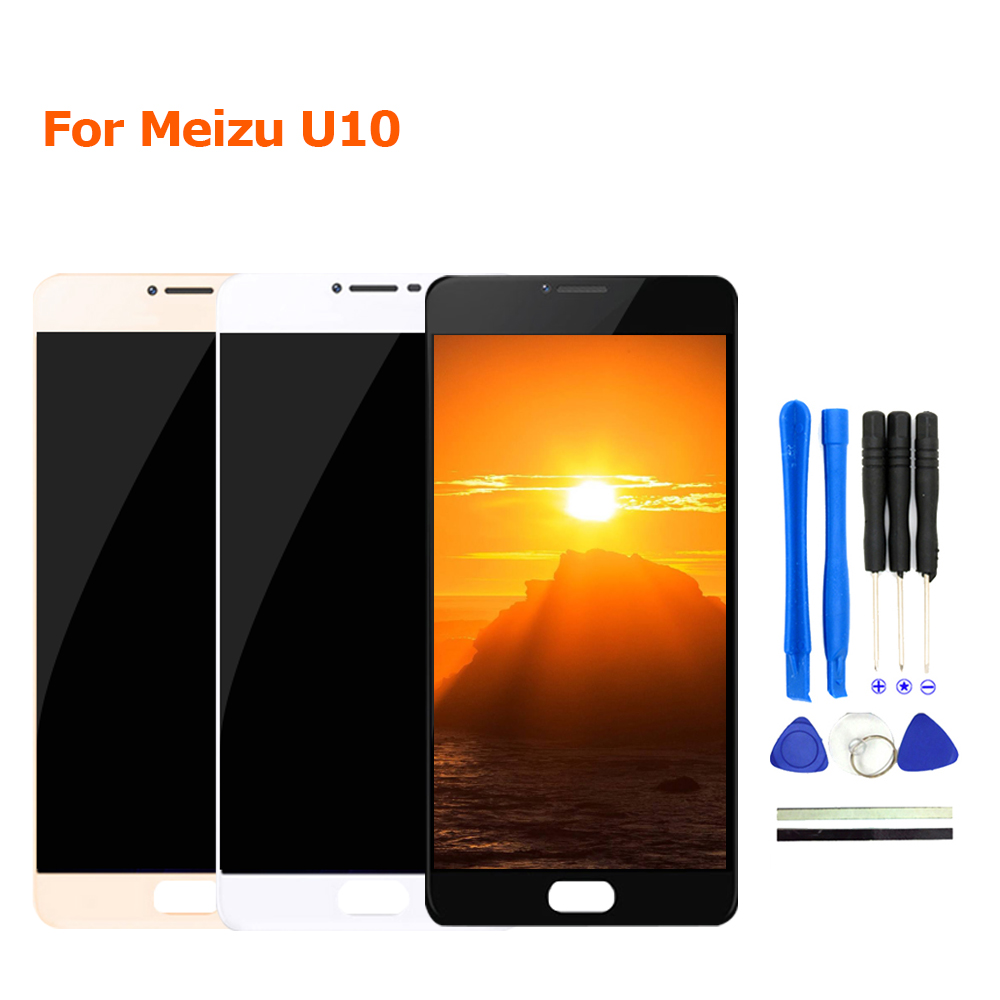 New For Meizu U10 LCD Display + Touch Screen Digitizer Glass With Frame Assembly For Meizu U10 Mobile Phone Parts With Free Tool ...