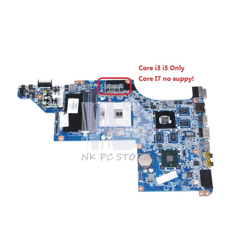 NOKOTION For HP pavilion DV7 DV7T DV7-4000 Laptop Motherboard HM55 DDR3 DA0LX6MB6F2 615308-001 HD5650M 17.3 inch Free CPU цена