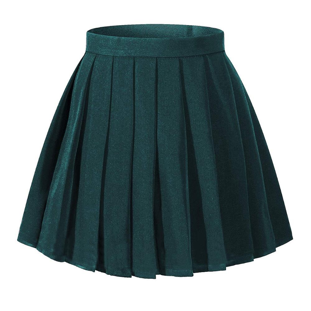 c27d1e206 Falda plisada de cintura alta para mujer Mini faldas para niñas ...