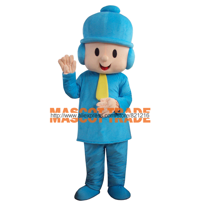 New Pocoyo Costume Adult Plush Mascot Costume  for Halloween party event