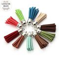 20pcs/lot Mixed Colors 30mm Velvet Suede Tassel For Keychain Earrings Cotton Tassel With Silver Caps DIY Jewelry Making F1994B