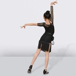 Image 4 - شرابة اللاتينية فستان رقص للفتيات الأطفال السالسا التانغو قاعة فستان رقص الاطفال ممارسة الرقص الملابس المنافسة ازياء