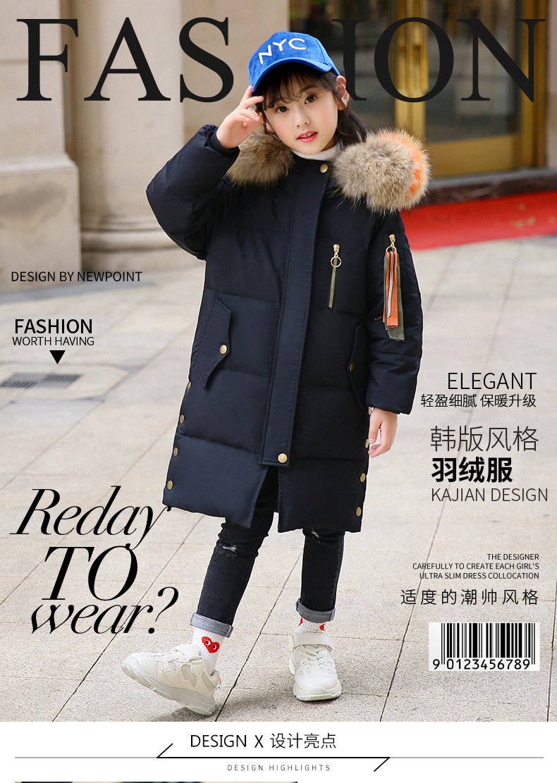 3996cce76 Baby Girl Clothes Winter 2018 Big Girls Winter Coats For Kids Warm ...