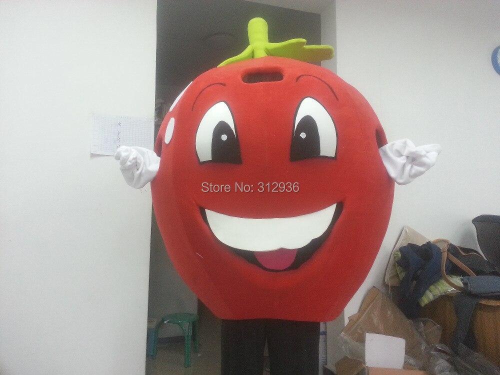 Маскоты костюма взрослых Костюм характера талисман, как мода Бесплатная доставка Косплей красный Apple