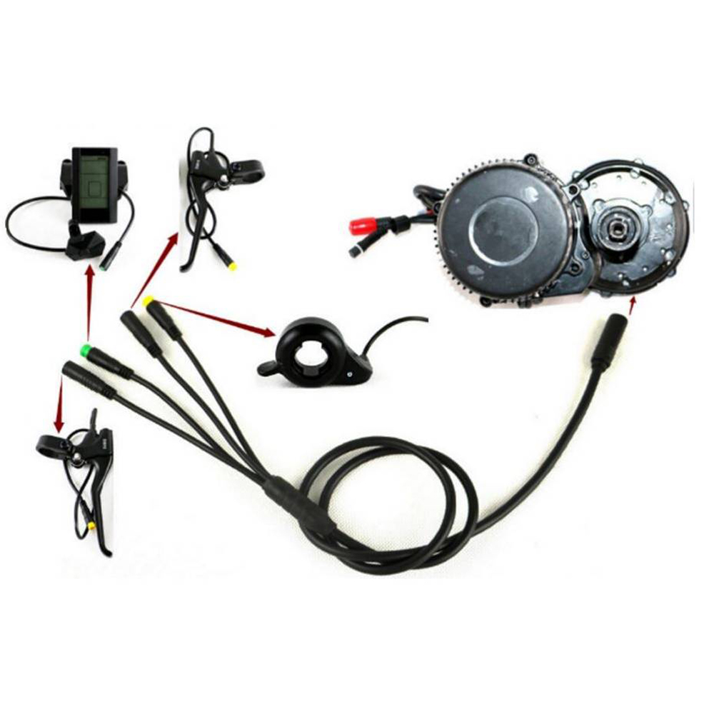Bafang elektro-fahrrad Motor zentrale angetrieben kit eb-bus kabel BBS motor EB-Bus 1T4 BBS01/02 BBSHD Elektrische Fahrrad Zubehör