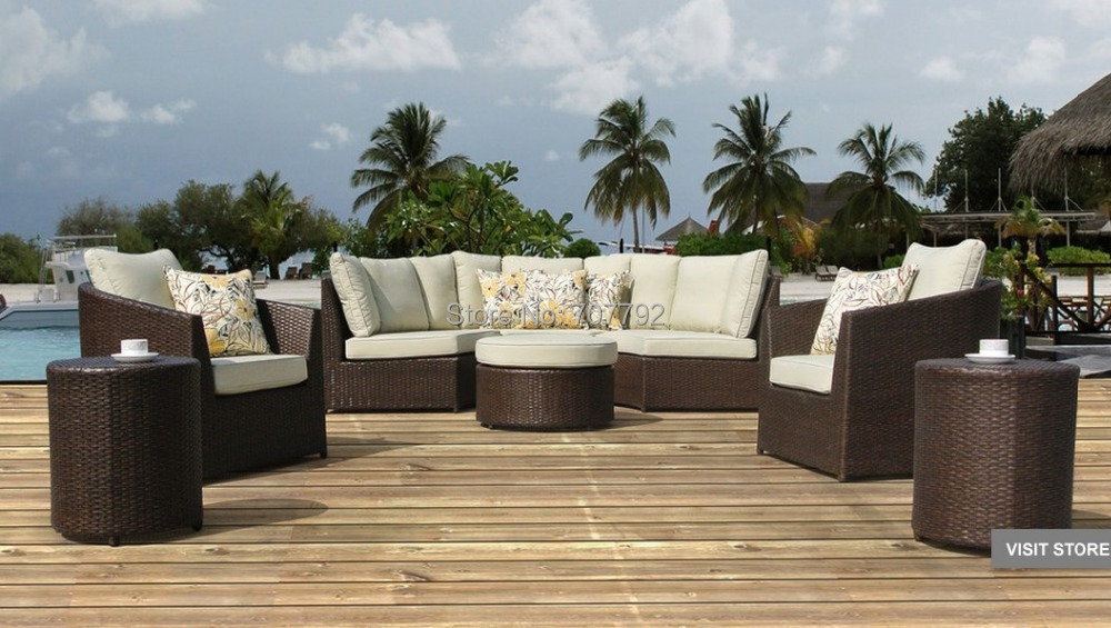 Perfect 2017 Sirio Wicker Resin 8 Piece Outdoor Furniture Set