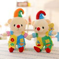 2017 New 30CM Teddy Bear Soft Plush Toy Doll Peluche Creative Cute Clown Bear Baby Toy For Children Christmas Gifts 2 Colors