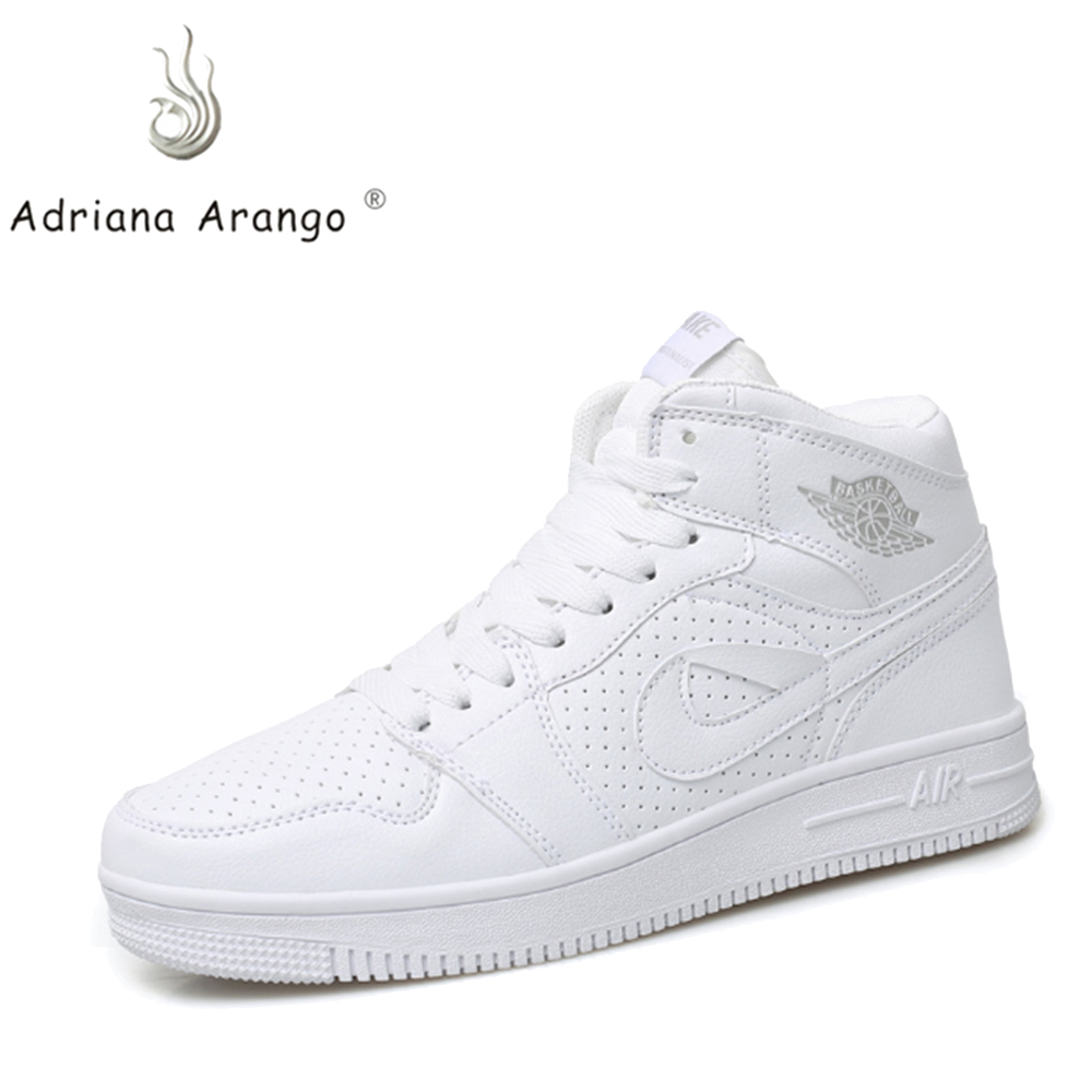 Adriana 2019 Men And Women  High-top Basketball Shoes Cushioning Light Basketball Sneakers Anti-skid Breathable Outdoor Sports(China)