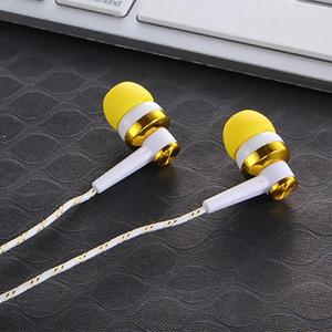 Image 3 - High Quality Wired Earphone Brand New Stereo In Ear 3.5mm Nylon Weave Cable Earphone Headset With Mic For Laptop Smartphone #20