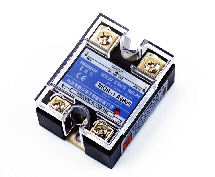Solid State Relay Single-phase  D48100 MGR - 1  AC Control AC SSR 100AA ssr 40da single phase solid state relay white silver