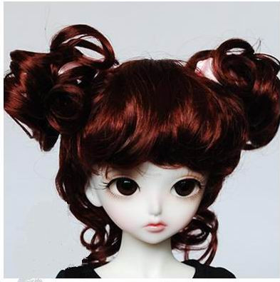 JD011 1/12 Cute Charming Curl bjd Doll Wig size 4-5 inch Soft synthetic mohair BJD wig tiny doll accessories
