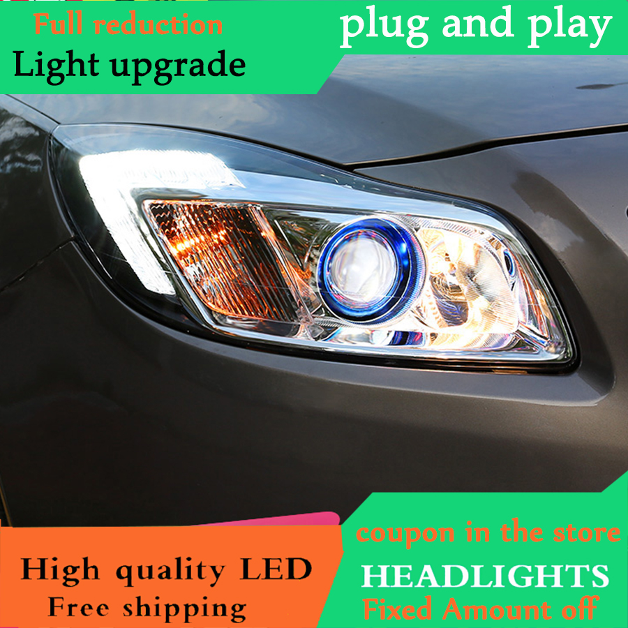 medium resolution of car headlight for buick regal led headlights 09 13 for opel insignia head lamp angel eye led drl front light bi xenon lens xenon