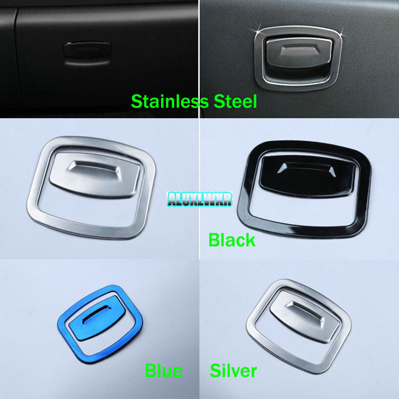 fit for Renault Koleos Samsung QM6 2017 Car Interior Stainless steel co - drive storage box switch handle trim cover trim 2PCS