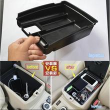 Lapetus merkezi konsol çok fonksiyonlu saklama kutusu telefon tepsisi aksesuar kiti Nissan x trail için X Trail T32 Rogue 2014   2020 siyah