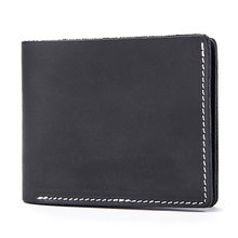 La MaxZa Genuine Leather Men Wallets Short Design ID Card Holder Waterproof Black Male Wallet Casual Top Quality Men Purse(China)