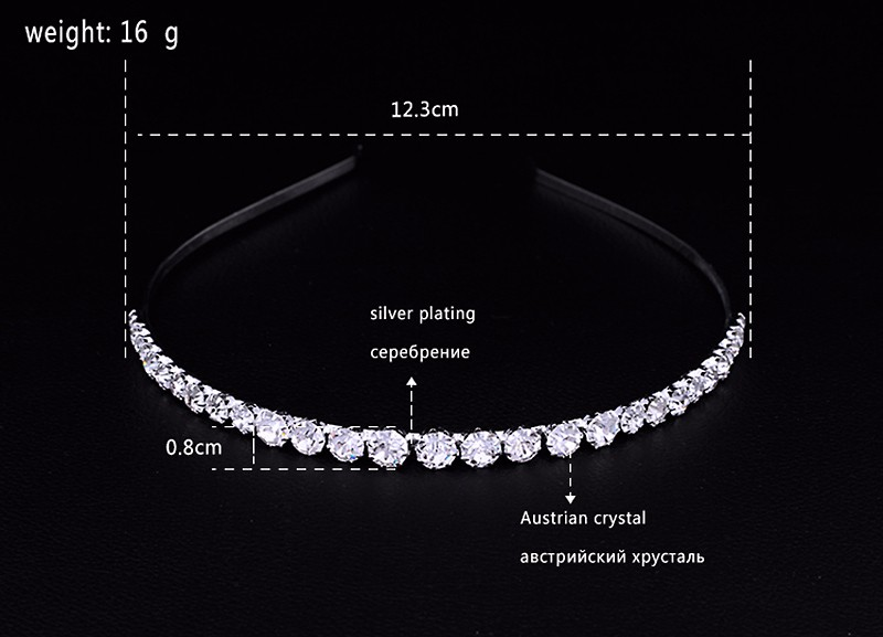 Mecresh Crystal Rhinestone Beads Wedding Hair Accessories Hairbands Hair Combs Bridal Wedding Hair Jewelry TS001 3