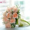 Real Fotos Champagne boda flores ramos de novia ramo de la boda novia con flores color de rosa accesorios de la boda Z806