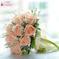 Real Photos Champagne wedding bouquet wedding flowers bridal bouquets bride holding flowers  rose wedding accessories Z806